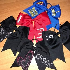 Cheerleading Hair bows for girls 5 pieces